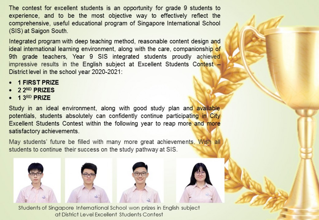 Excellent Students Contest - EN