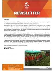 SIS - Newsletter of May 2018 - ENG-1