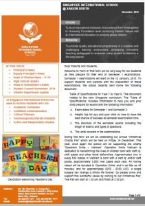 SIS@SS - Newsletter of November 2014 (English, 1.3MB)